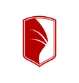 dragon wing shield sigil symbol graphic design vector image