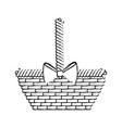 empty easter basket vector image vector image