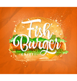 Fish burger color vector image vector image