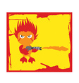 Flame character vector image vector image
