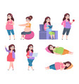flat pregnant woman healthy exercises for moms vector image
