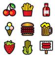food contur vector image vector image