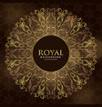 golden royal mandala ornamental decoration vector image vector image