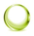 Green blurred circle shape design vector image vector image