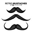 hair mustaches different types hipster vector image vector image