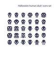 halloween human skull iconghost or monster vector image