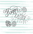 happy easter lettering vector image vector image