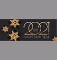 happy new 2021 year elegant holiday design vector image vector image