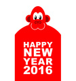 Happy new year Chinese new year red monkey Big vector image