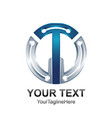 initial letter t or tw logo template colored vector image vector image
