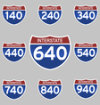 INTERSTATE SIGNS 140-940 vector image vector image