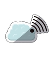 Isolated cloud and wifi icon design vector image