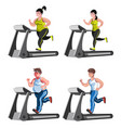 isolated fitness design concept with before and vector image vector image