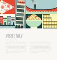 Italy Postcard vector image vector image