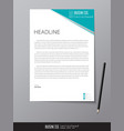 letterhead design template and mockup minimalist vector image