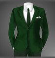 male clothing business green suit vector image vector image