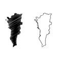 metro manila map vector image vector image