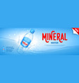 mineral water promo banner vector image vector image