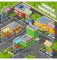 Mobile Shopping Isometric vector image vector image