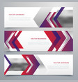 modern business banners design set of three vector image vector image
