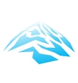Mountain Abstraction Blue color vector image