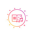 music book line icon musical note sign vector image