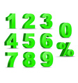 Numbers D vector image vector image