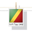 photo of republic of the congo flag vector image vector image