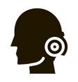 pin nape pain man silhouette headache glyph icon vector image vector image