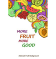 Psychedelic colorful fruits background vector image vector image