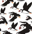 puffin bird pattern B vector image vector image