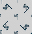 racing flag icon sign Seamless pattern with vector image vector image