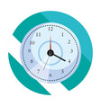 round clock time vector image vector image