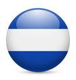 Round glossy icon of el salvador vector image vector image