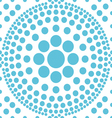 seamless blue polka abstract pattern vector image