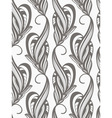 seamless monochrome pattern vector image vector image
