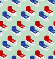 seamless pattern with sneaker shoe trainers vector image