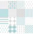 set of baby boy seamless dots polka patterns vector image vector image