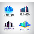 Set of building logos company icons