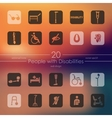 Set of people with disabilities icons vector image