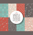 Simple seamless pattern set hipster vintage cute vector image