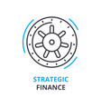strategic finance concept outline icon linear vector image