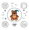 sweet dreams and good sleep infographic vector image vector image
