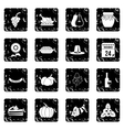 Thanksgiving icons set simple style vector image vector image
