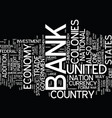 the bank of the united states text background vector image vector image