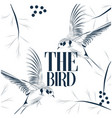 the bird martin background image vector image vector image