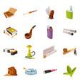 tobacco and habit symbol vector image vector image