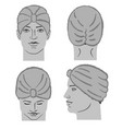 turban or shower cap template and man head vector image vector image