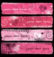 Valentine's Banners I vector image vector image
