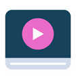 video screen electronic library play icon vector image